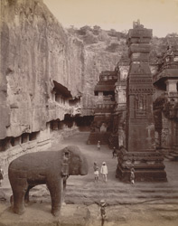 The Kailas Cave, rock cut temple, Ellora